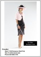 Condici_11169_Romance Shell Pink _Mother_Bride_Size12, Reds Pinks, Hat, Ascot (4in, hat, no thin straps), 1201