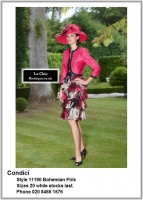 Condici_11190_Bohemian Pink_Mother_Bride_Size20, Reds Pinks, Hat, Ascot (4in, hat, no thin straps), 1201