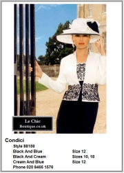 Condici_88159_Mother_Bride_Size10, Size12, Size18, Blues Navy Lilac, Light_Ecru and Dark, Hat, 1229