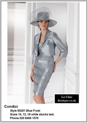 Condici_90281_Blue Frost_Mother_Bride_Size10, Size12, Size18, Grey_Silver_Pewter_Champagne, Hat, Ascot, 1213