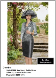 Condici_90298_Sea Spray Sable Silver_Mother_Bride_Size14, Size16, Grey_Silver_Pewter_Champagne, Hat, Ascot, 1230