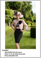 Condici_90308_Pink Innocence_Mother_Bride_Size10, Size14, Size20, Reds Pinks, Hat, Ascot, 1230