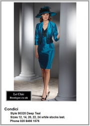 Condici_90320_Deep Teal_Mother_Bride_Size12, Size14, Size20, Size22, Size24, Blues Navy Lilac, Hat, Ascot, AW2013, 1214b