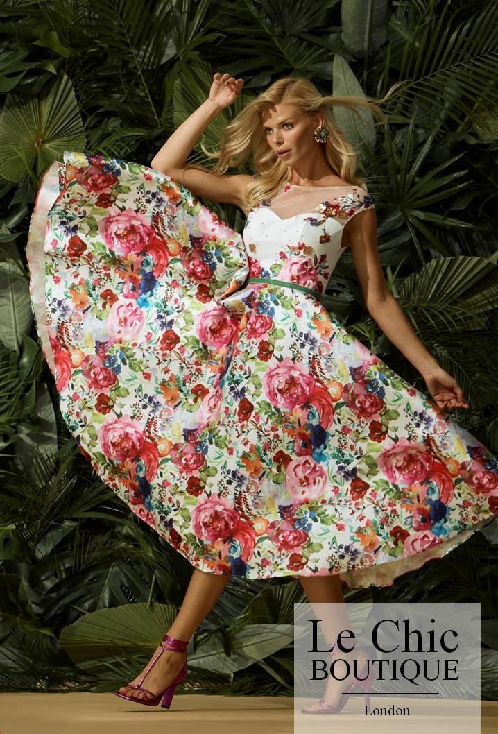..Carla Ruiz, style 96447, Pink floral