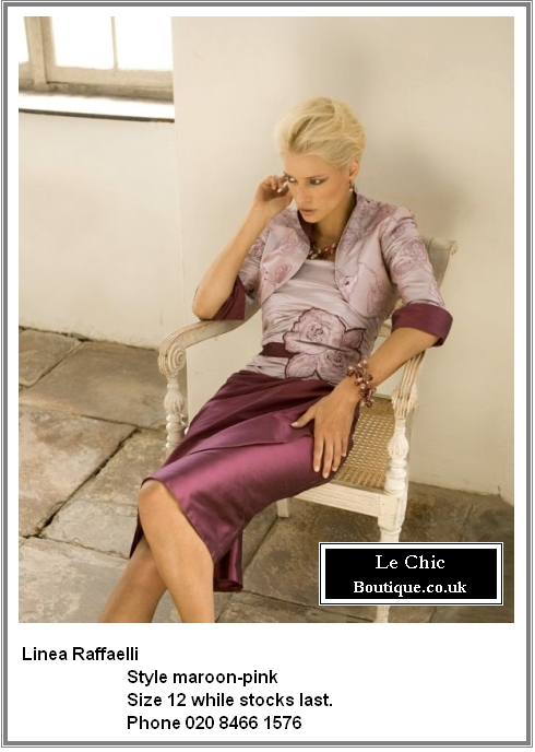 Linea Raffaelli, style Maroon-Pink; Was £995 now £697