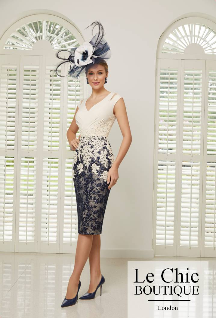 ...Ronald Joyce by Veni Infantino, style 991501S, Champagne and navy