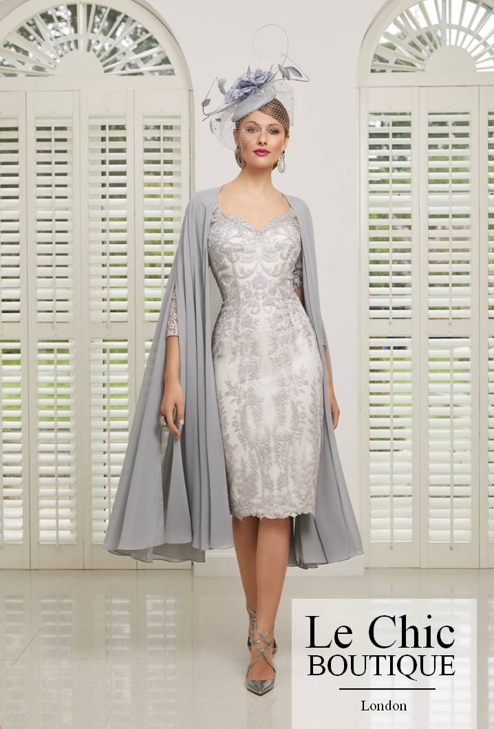 ...Ronald Joyce by Veni Infantino, style 991515, Taupe and ivory.