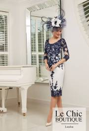 ...Ronald Joyce by Veni Infantino, style 991528S, Navy and ivory.